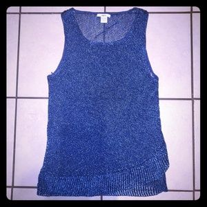 barIII Metallic Royal Blue Sleeveless Shirt